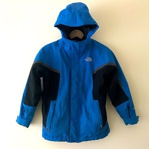 North Face 3-in-1 Winter Ski Jacket Boys Size Small 7/8 Blue and Black